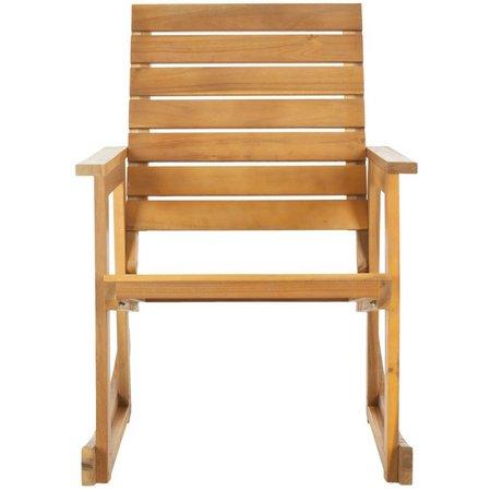 Safavieh Alexei Natural Brown Rocking Chair