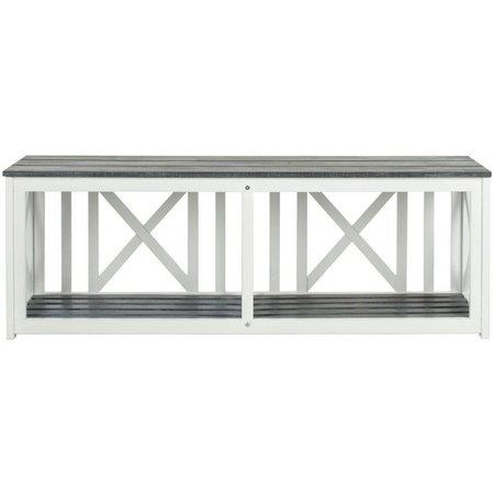 Safavieh Branco Ash Grey Storage Bench