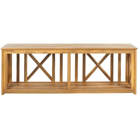 Safavieh Branco Natural Brown Storage Bench