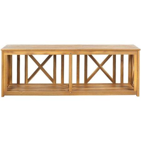 Safavieh Branco Natural Brown Storage Bench