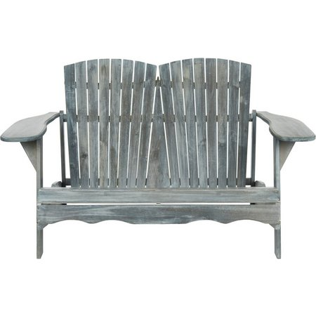 Safavieh Hantom Grey Adirondack Bench Loveseat