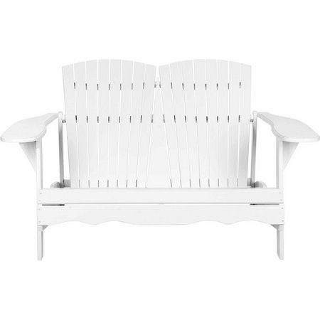 Safavieh Hantom White Adirondack Bench Loveseat