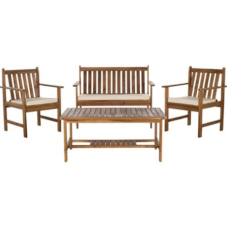 Safavieh Burbank 4-pc. Teak Patio Set
