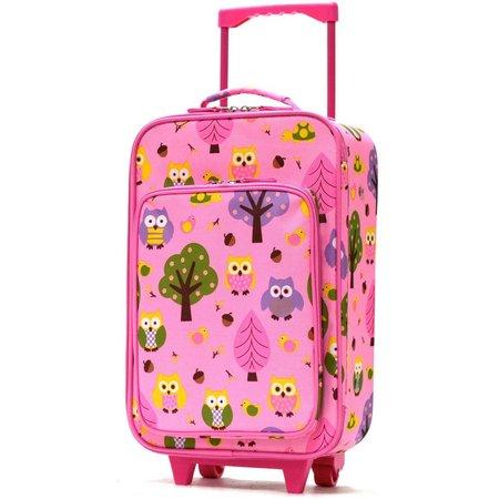 Olympia Luggage Playday Pink Owls Luggage