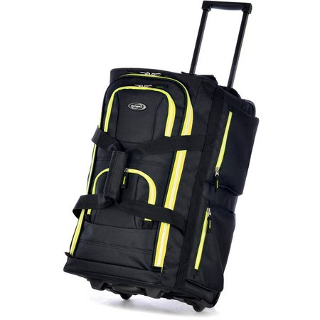 Olympia Luggage 8-Pocket Rolling Duffel Bag