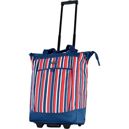 Olympia Fashionista Stripes Rolling Shopping Tote