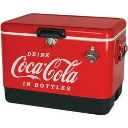 New! Koolatron Coca Cola Metal Chest Cooler