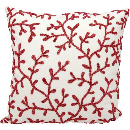 Mina Victory Beaded Seaweed Outdoor Throw Pillow