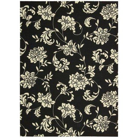 Nourison Home & Garden RS014 Black Area Rug