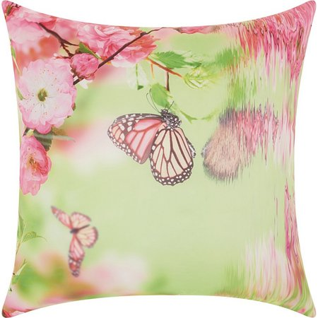 Mina Victory Butterfly Reflections Outdoor Pillow
