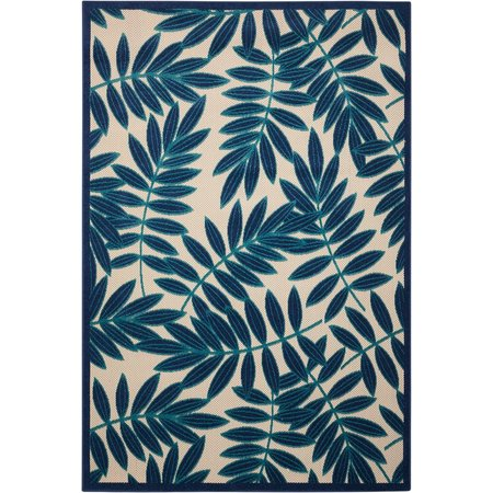 Nourison Aloha ALH18 Navy Indoor/Outdoor Area Rug