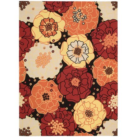Nourison Home & Garden RS019 Black Area Rug