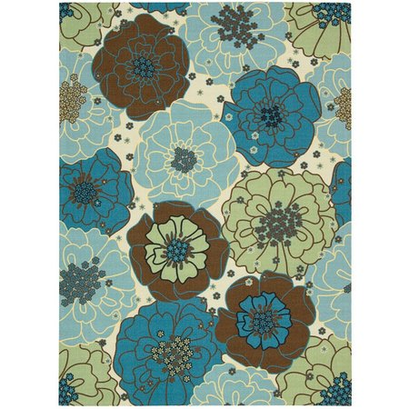 Nourison Home & Garden RS019 Light Blue Area