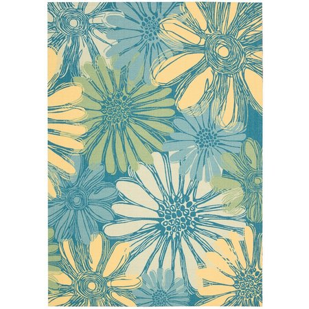 Nourison Home & Garden RS022 Blue Area Rug