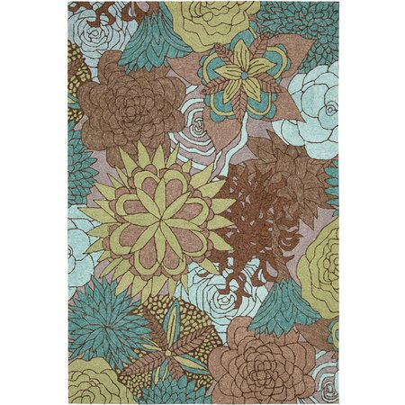 Nourison South Beach SOU07 Aqua Area Rug