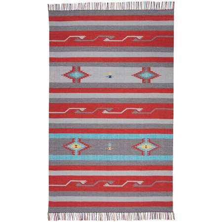 Nourison Baja Grey & Red BAJ01 Area Rug