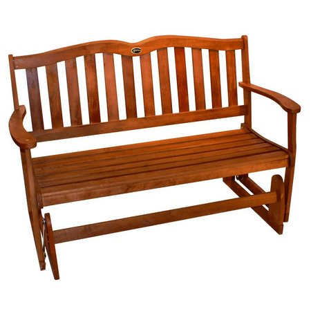 Jordan 2 Person Hardwood Glider Bench