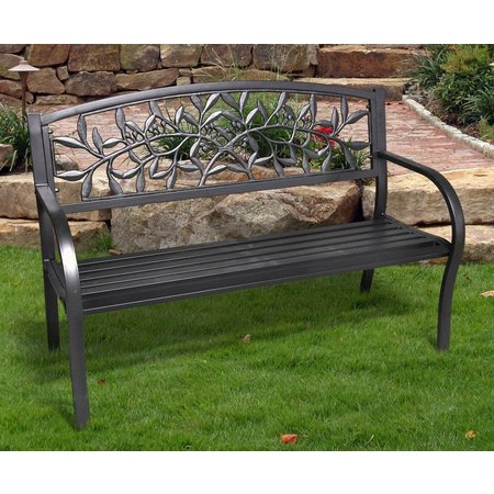 Jordan Cast Iron Vine Bench