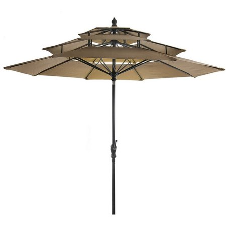 Jordan Manufacturing 9' 3-Tier Umbrella