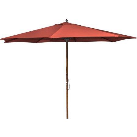 Jordan 9 Foot Wood Market Umbrella