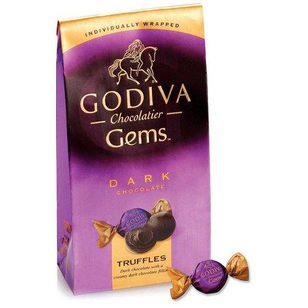 Godiva Dark Chocolate Truffle Gems Bag