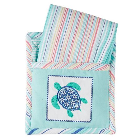 DII 2-pc. Sea Turtle Embroidered Kitchen Towel Set