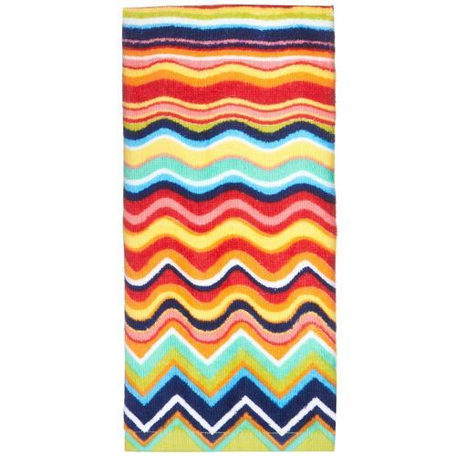 Zig Zag Kitchen: Fiesta Multicolor Zig Zag Kitchen Towel
