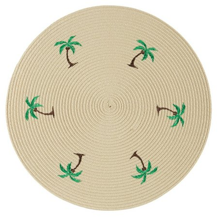 Benson Mills 4-pc. Palm Embroidered Placemats Set