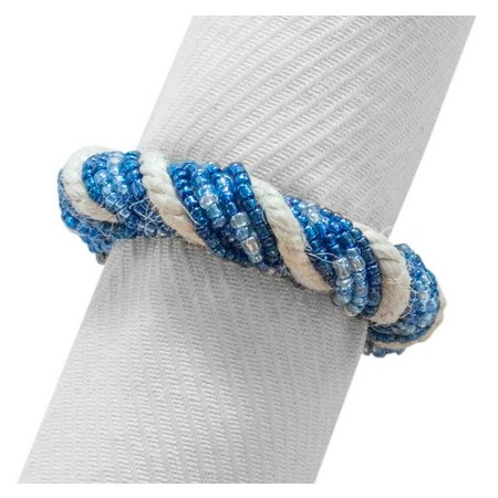 Kemp & Beatley Jute & Blue Glass Bead