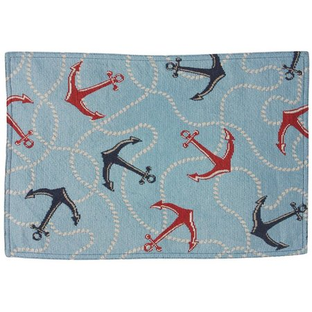 Natco Adrift Blue Sea Tapestry Placemat