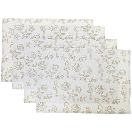 Leila's Linens 4-pc. Sea Life Quilted Placemats