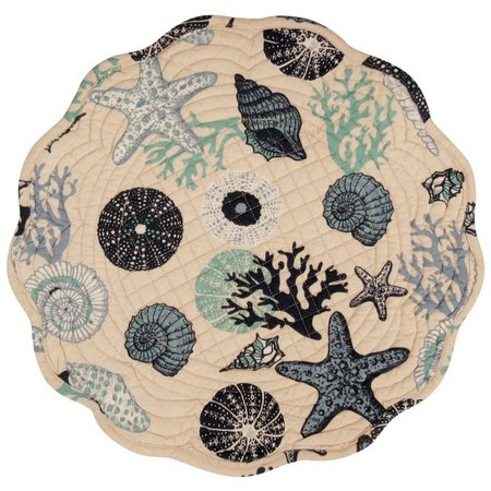 Leila's Linens Under The Sea Round Placemat