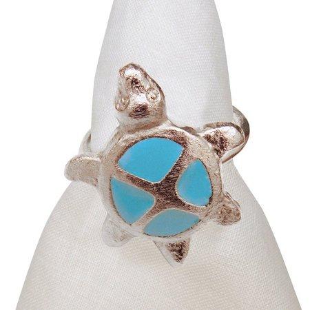 Leila's Linens Metal Turtle Napkin Ring