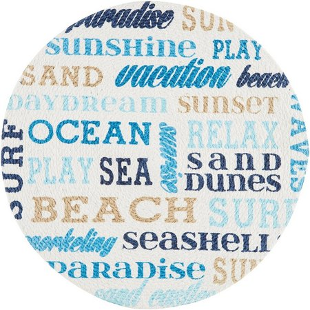 Homewear Sunbleached Words Round Placemat