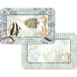 Counter Art Shells & Coral Reversible Placemat
