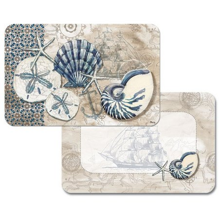 Counter Art Tide Pool Shells Reversible Placemat