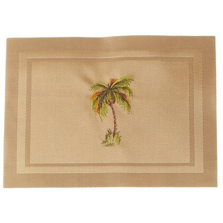 Arlee Embroidered Palm Tree Placemat