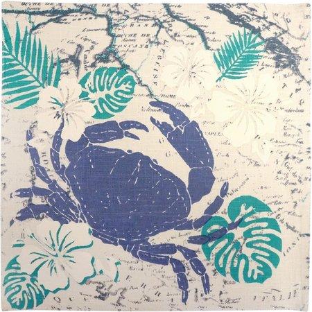 Arlee Tropical Crab Square Placemat
