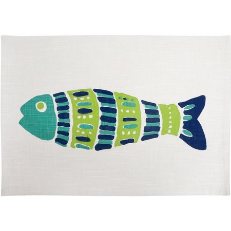 Arlee Mosaic Fish Cotton Placemat