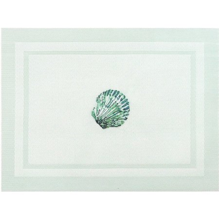 Arlee Seashell Embroidered Placemat