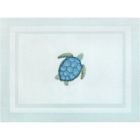 Arlee Sea Turtle Embroidered Placemat