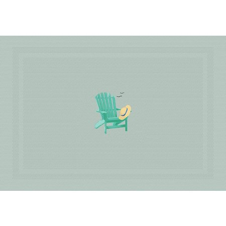 Arlee Beach Chair Embroidered Placemat