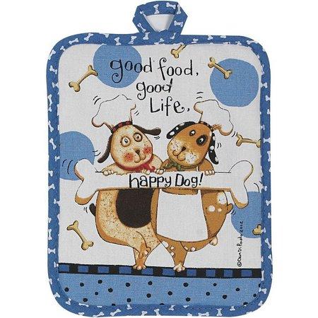 Kay Dee Designs Happy Dog Pot Holder