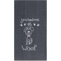 Kay Dee Designs Woof Waffle Kitchen Towel