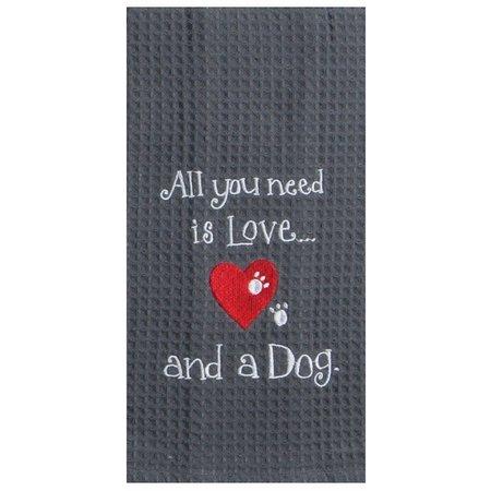 Kay Dee Designs Dog Love Waffle Kitchen towel