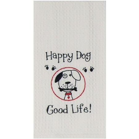 Kay Dee Designs Happy Dog Waffle Kitchen towel