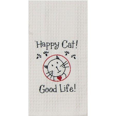 Kay Dee Designs Happy Cat Waffle Kitchen Towel