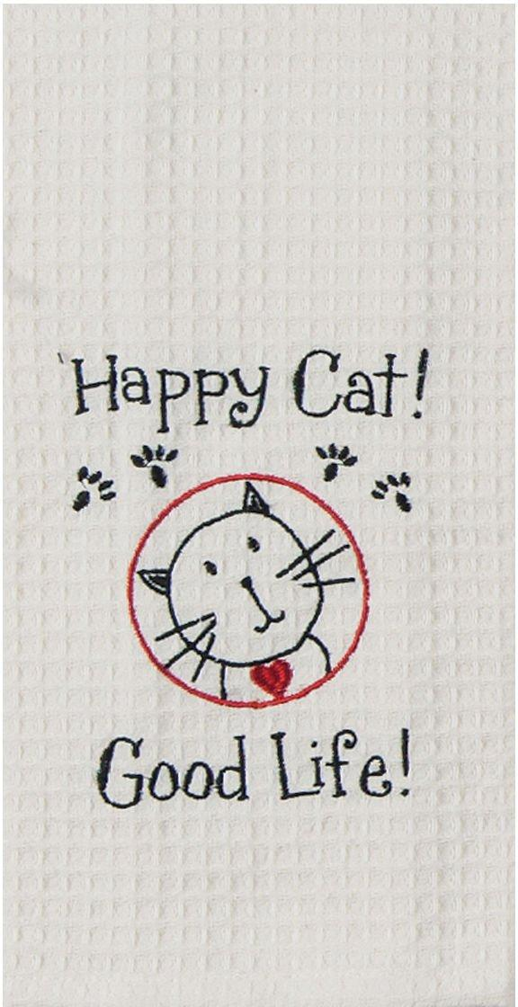 Kay Dee Designs Happy Cat Waffle Kitchen Towel Part 40