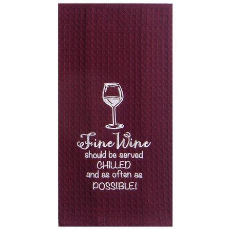 Kay Dee Designs Fine Wine Waffle Towel