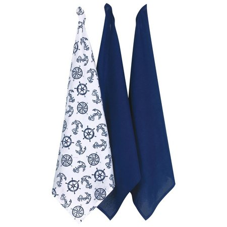 Kay Dee Designs 3-pc. Nautical Flour Sack Towels